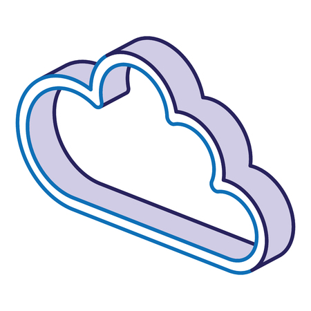 Illustration pour cloud computing isolated icon vector illustration design - image libre de droit