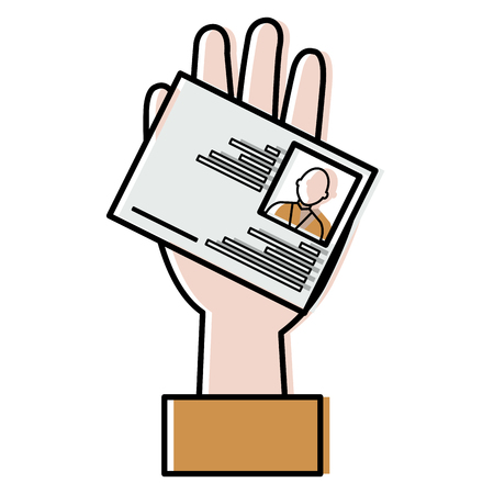 Photo pour hand with id licence vector illustration design - image libre de droit