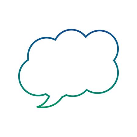Illustration pour Speech bubble message dialog chat, vector illustration. - image libre de droit