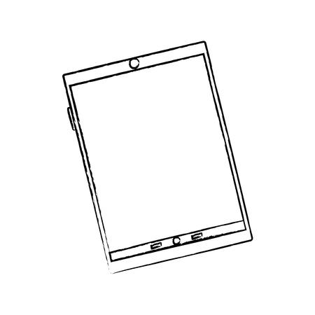 Illustration pour Device technology tablet gadget, vector illustration. - image libre de droit