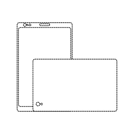 Illustration pour A smartphone gadget's front and back view design vector illustration - image libre de droit