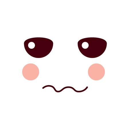 unhappy face emoji icon image vector illustration design