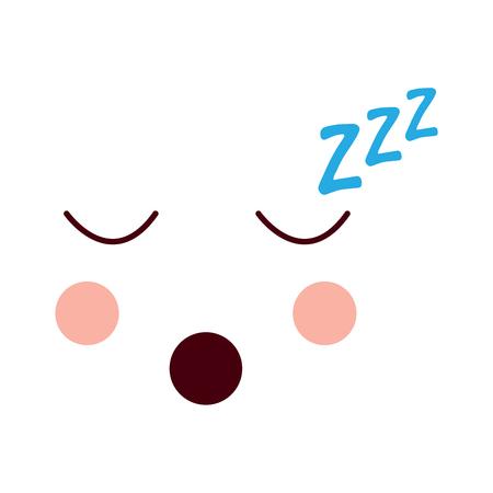 sleeping face emoji icon image vector illustration design