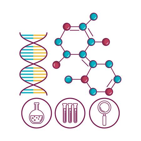 Illustration pour chemistry science poster icon vector illustration design - image libre de droit