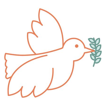 Illustrazione per peace dove with olive branch vector illustration design - Immagini Royalty Free