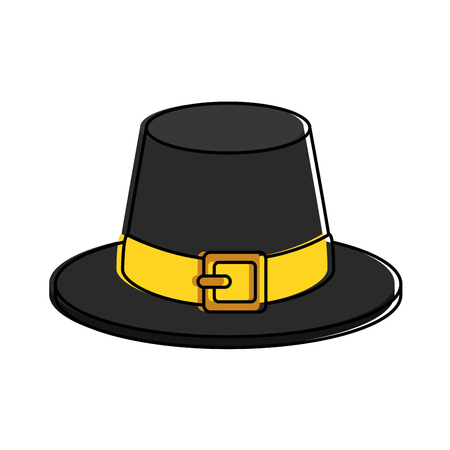 Illustration for thanksgiving hat isolated icon vector illustration design - Royalty Free Image