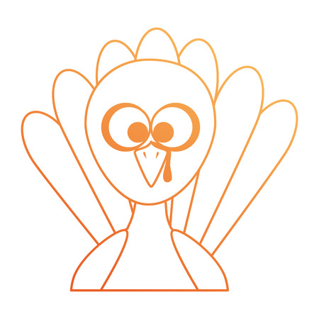 Illustration for Thanksgiving turkey character icon  illustration design - Royalty Free Image