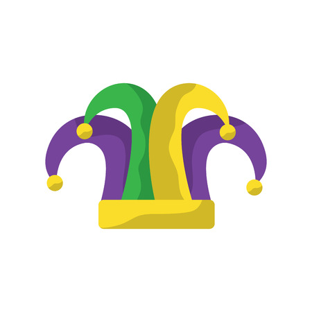 Illustration for harlequin hat mardi gras carnival icon image vector illustration design  - Royalty Free Image