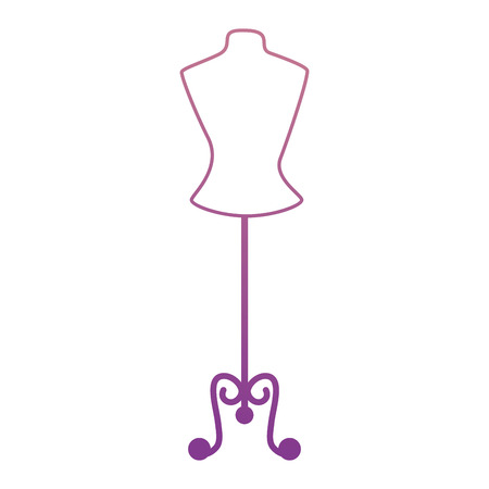 Photo pour Mannequin store isolated icon vector illustration design - image libre de droit
