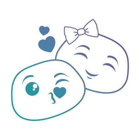 Illustration pour Lovely emoji faces icon vector illustration design isolated on white - image libre de droit