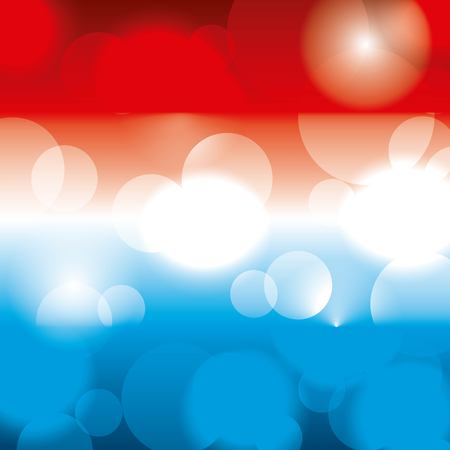 Illustration pour American theme colors blurred glowing pattern. - image libre de droit