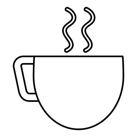 Illustration for coffee cup isolated icon vector illustration design - Royalty Free Image