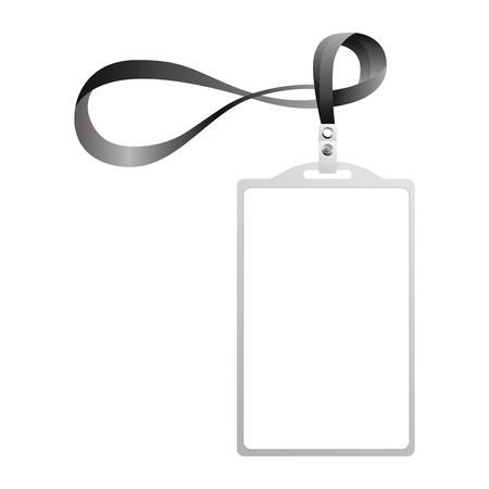 Illustration pour template for advertising branding and corporate identity plastic id badge with lanyard vector illustration - image libre de droit