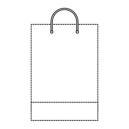 Illustration for shopping bag template sample business stationery blank vector illustration dotted line design - Royalty Free Image