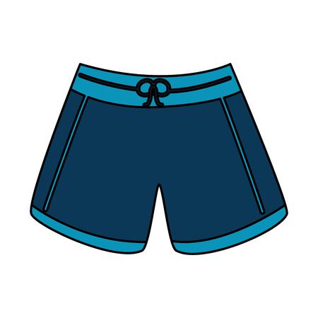 Illustration pour male short swimsuit fashion clothes vector illustration - image libre de droit