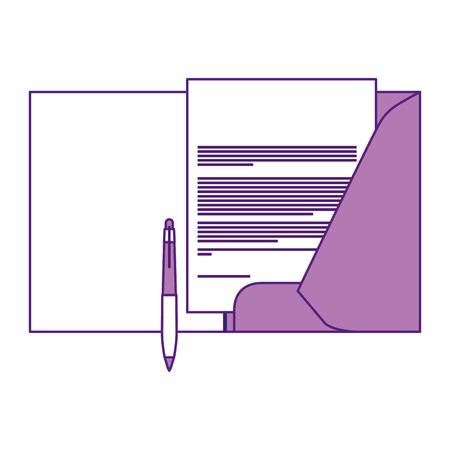 Ilustración de Corporate identity template folder and pen letterhead documentation for business vector illustration. - Imagen libre de derechos
