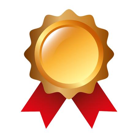 Illustration for rosette award guarantee premium win icon vector illustration - Royalty Free Image