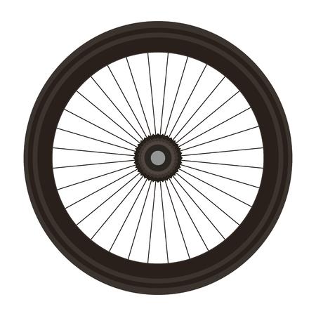 Ilustración de Bike wheel isolated icon vector illustration design - Imagen libre de derechos