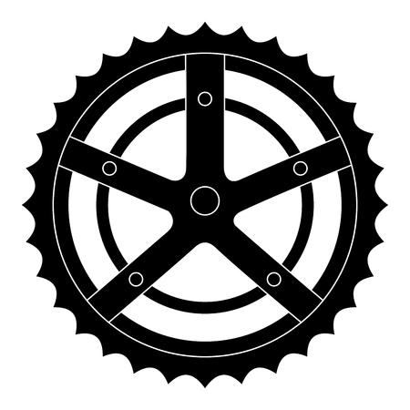 Ilustración de bicycle sprocket isolated icon vector illustration design - Imagen libre de derechos