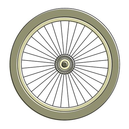 Ilustración de Bike wheel icon - Imagen libre de derechos