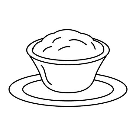 Ilustración de delicious cheese sauce isolated icon vector illustration design - Imagen libre de derechos
