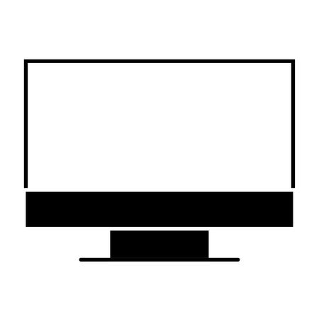 Illustration pour A monitor computer device work equipment vector illustration pictogram - image libre de droit