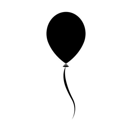 Ilustración de single balloon icon image vector illustration  design  black and - Imagen libre de derechos