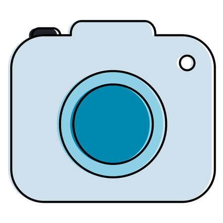 Illustration pour Camera photographic isolated icon vector illustration design - image libre de droit