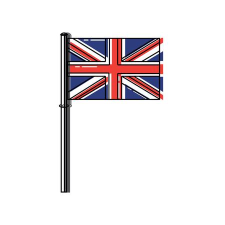 Ilustración de flag united kingdom icon image vector illustrationd design  - Imagen libre de derechos
