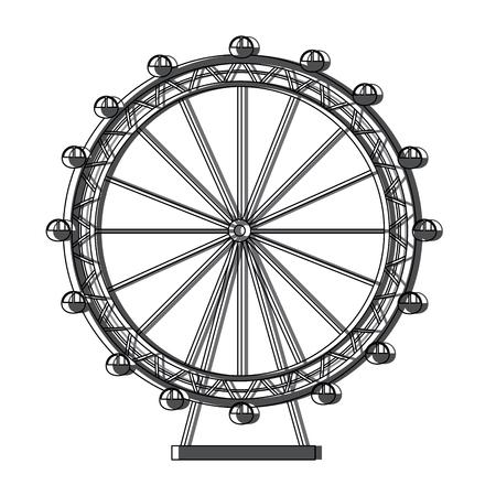Ilustración de Ferris wheel icon image vector illustration design - Imagen libre de derechos