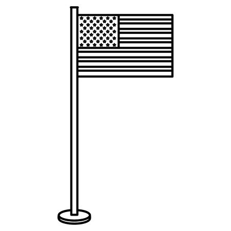 Ilustración de USA flag isolated icon vector illustration design - Imagen libre de derechos