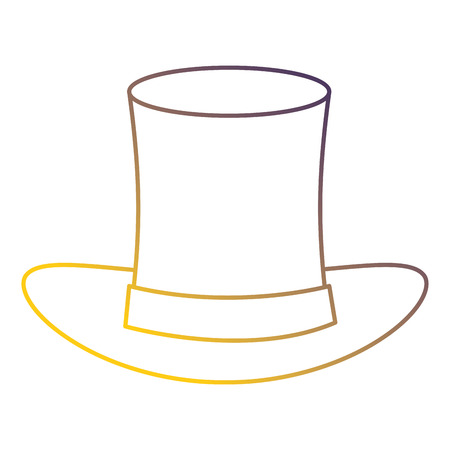 Illustration for cilinder hat isolated icon vector illustration design - Royalty Free Image