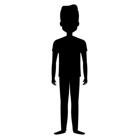 Ilustración de young man avatar character vector illustration design - Imagen libre de derechos