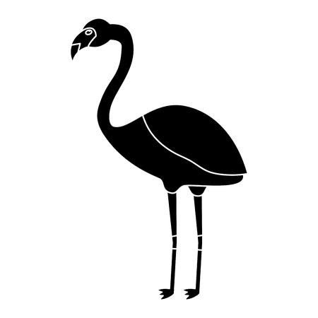 Ilustración de Flamingo bird tropical icon image vector illustration design - Imagen libre de derechos
