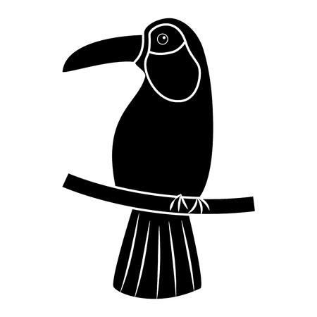 Ilustración de Toucan bird tropical icon image vector illustration design - Imagen libre de derechos