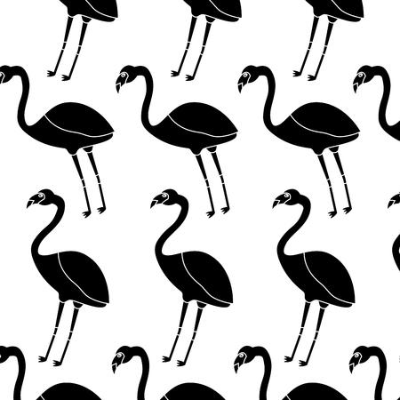 Ilustración de Flamingo bird tropical pattern image vector illustration design - Imagen libre de derechos