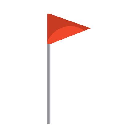Ilustración de Flag triangle icon image vector illustration design - Imagen libre de derechos