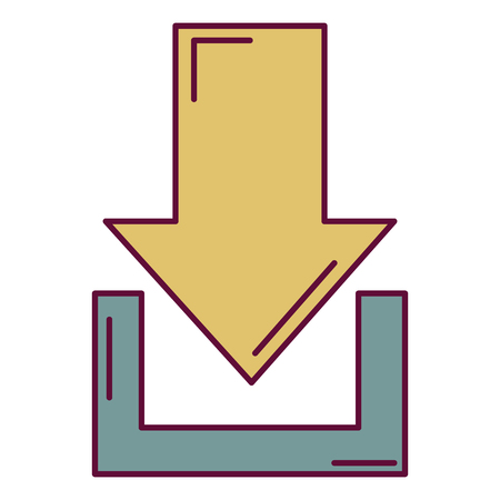 Illustration for Arrow download isolated icon illustration design. - Royalty Free Image