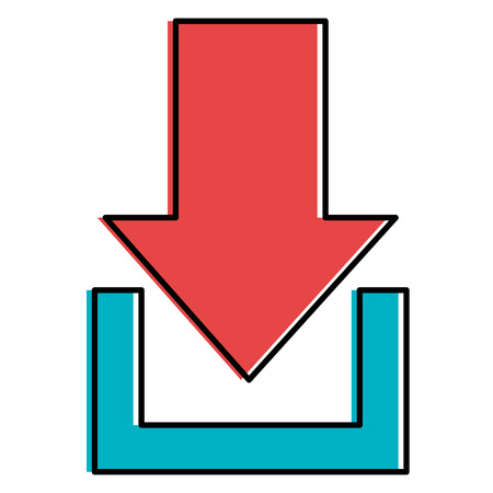 Illustration for Arrow download isolated icon vector illustration design - Royalty Free Image