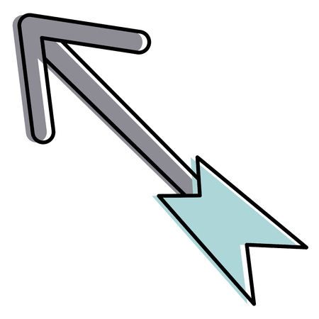 Illustration for Arrow isolated icon  illustration design - Royalty Free Image