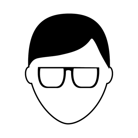 Illustrazione per default male avatar man profile picture icon vector illustration  pictogram image - Immagini Royalty Free