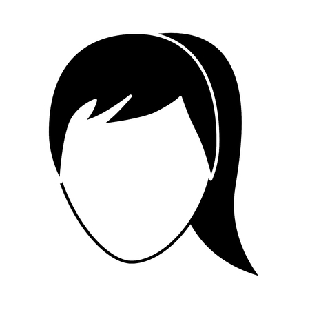 Ilustración de faceless woman profile avatar character vector illustration pictogram image - Imagen libre de derechos