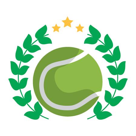 Ilustración de tennis ball emblem image vector illustration design  - Imagen libre de derechos