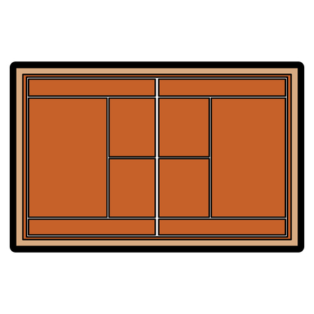 Illustration for tennis field court grass grid top view vector illustration - Royalty Free Image