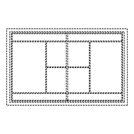 Illustration for Tennis field court grass grid - Royalty Free Image
