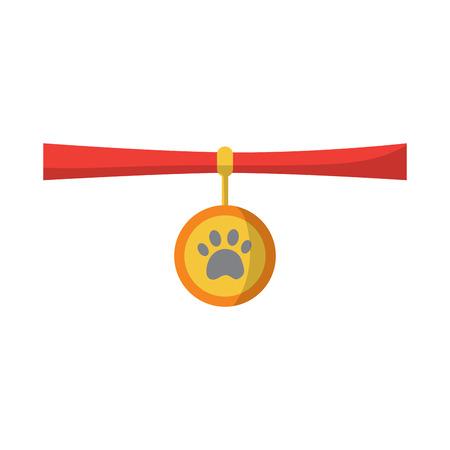Ilustración de pet necklace medal identity animal vector illustration - Imagen libre de derechos