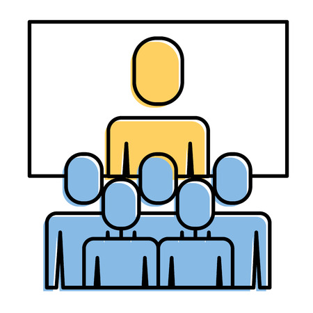 Illustration for Business meeting manager group board vector illustration. - Royalty Free Image