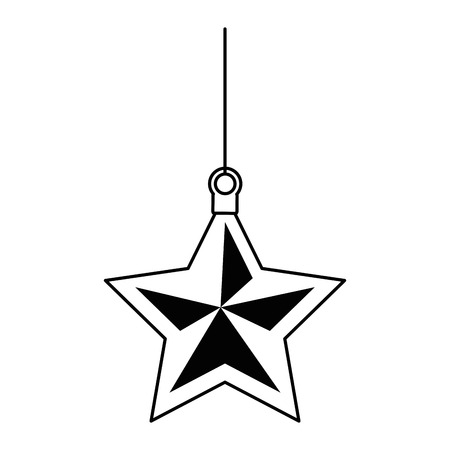 Ilustración de christmas star decorative icon vector illustration design - Imagen libre de derechos