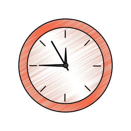 Ilustración de Clock time icon image illustration design. - Imagen libre de derechos