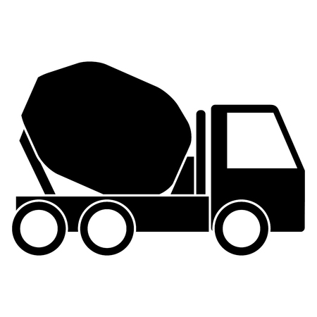 Illustration pour Concrete mixer truck icon illustration design. - image libre de droit